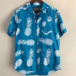 MEN'S Brooklyn Blue Pineapple Print Button Down